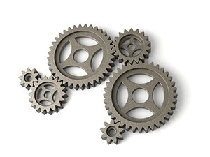 a collection of interacting gears